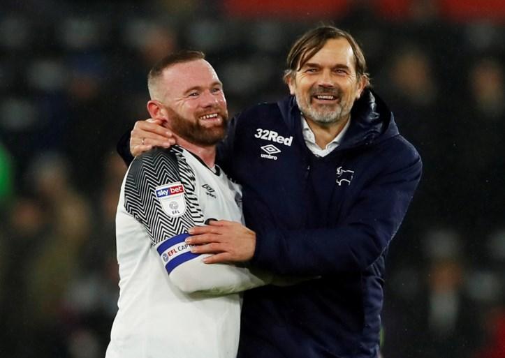 Wayne Rooney (tijdelijk?) opvolger van ontslagen Cocu bij Derby County