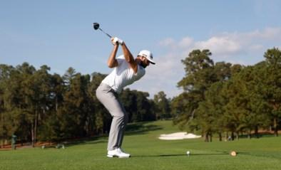 Dustin Johnson neemt optie op eindzege van Masters golf , Tiger Woods stelt teleur