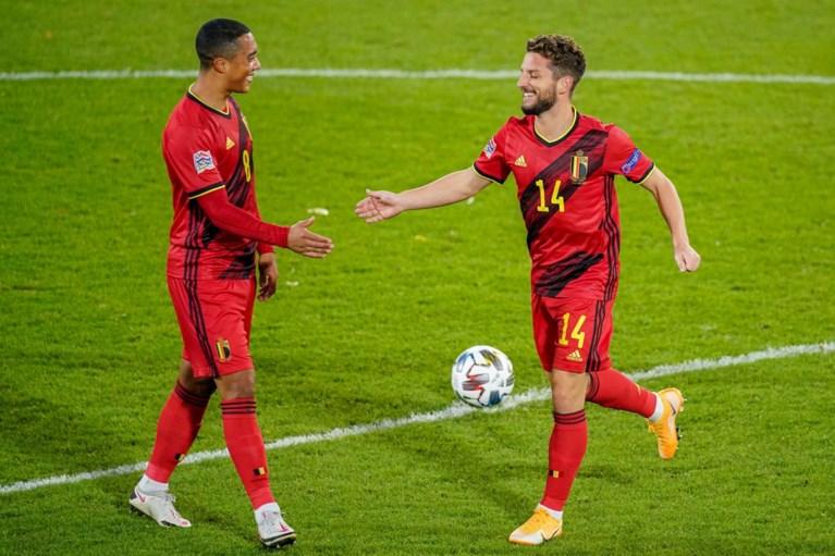 """REACTIES. Rode Duivels fier op over-mijn-lijk-mentaliteit, Mertens na doelpunt in Leuven: """"Niet zo leuk zonder publiek"""""""