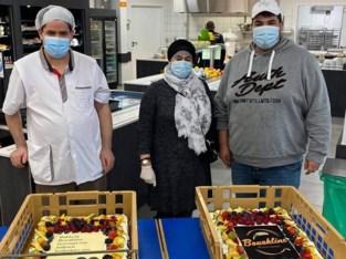 Bakkers Mo en Abdel trakteren Sint-Mariaziekenhuis op taart
