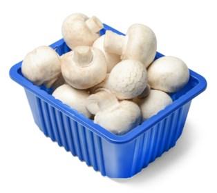 Na zestig jaar zal bakje champignons er helemaal anders uitzien: legendarische blauwe verpakking verdwijnt
