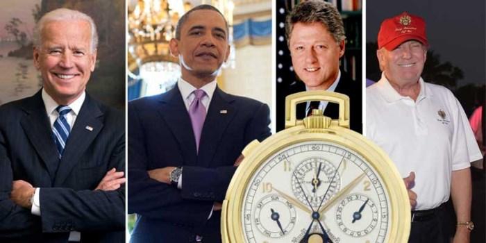 Waarom Joe Biden net als Barack Obama en Bill Clinton zijn passie voor horloges verbergt