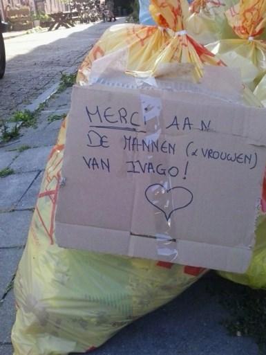 Bedank deze week uw vuilnisman en wie weet bedankt Ivago u terug