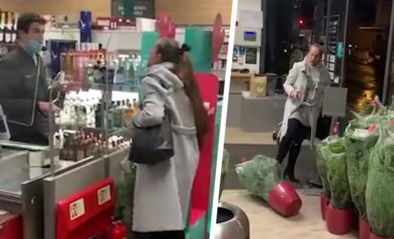 Vrouw zonder mondmasker start hevige scheldtirade in supermarkt en spuwt zelfs op kassabediende
