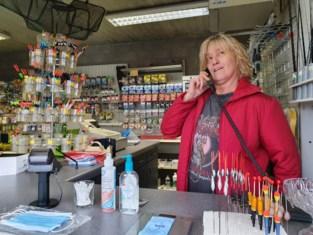 Hengelsportwinkel dagen zonder telefoon en internet door wegenwerken