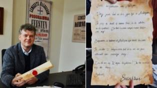 """Burgemeester ontvangt brief van de Sint: """"Of hij ook dit jaar bij de kindjes mag langskomen? Jazeker"""""""