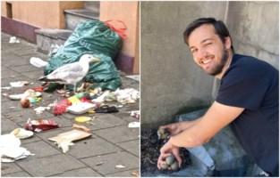 """Marc (52) en Nathan (24) van meeuwenteam delen ervaringen: """"Soms is het beter om een verstopte dakgoot vrij te maken dan om nesten te verwijderen"""""""
