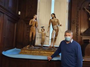 Expositiekast van Heilige Familie gaat in restauratie