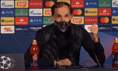 """Tuchel in de clinch met Franse pers na zege PSG tegen Leipzig: """"Als je ballen hebt, stel dan deze vragen in de kleedkamer"""""""