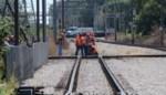 Werken aan de spoorlijn tussen Hasselt en Mol