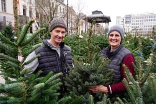 """Ann en Guy verkopen al 25 jaar kerstbomen op de Kouter: """"Champagne staat in reclame dus er is meer geld voor een boom"""""""