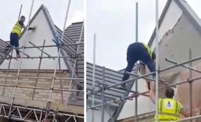 Werkman begint huis weer af te breken omdat hij nog niet betaald werd