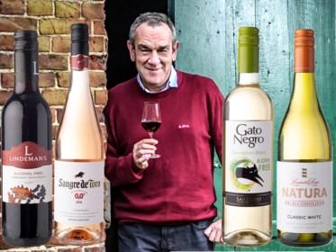 """Onze wijnkenner Alain Bloeykens waagde zich nog eens aan alcoholvrije wijnen: """"Echt lekker? Nee, sorry"""""""