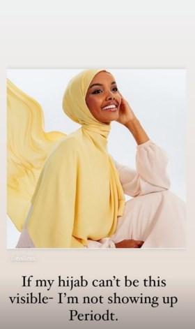 """Ze schreef met hoofddoek geschiedenis op covers en catwalks, maar Halima Aden is de modewereld beu: """"Ik ben mezelf verloren"""""""