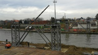 Nieuwe brug in Herentals dit weekend ingevaren