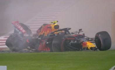 Erg zware crash van teamgenoot Max Verstappen tijdens oefensessie, Lewis Hamilton blijft de snelste in Bahrein