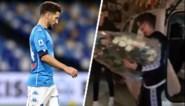 Sereen afscheid: Dries Mertens neemt na Europese wedstrijd de tijd om bloemen neer te leggen voor Diego Maradona