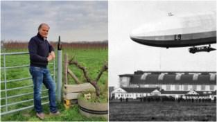 """Wouter (58) plant wijnranken waar vroeger Duitse zeppelins opstegen: """"Ik wil de geschiedenis in stand houden"""""""