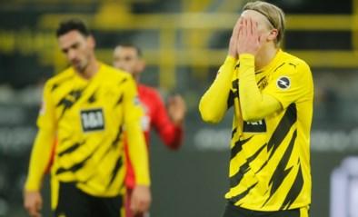 Hij is dan toch menselijk: Erling Haaland mist reuzekans voor Borussia Dortmund