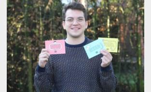 """Student Ewout maakt mensen gelukkig met ludieke lockdownkaartjes: """"Ze brengen wat kleur in deze donkere periode"""""""