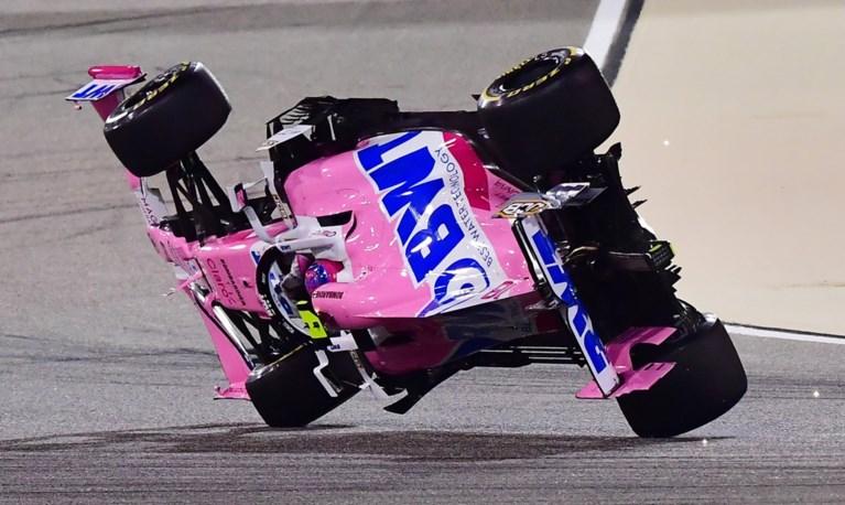 Lewis Hamilton wint vijfde race op rij in Bahrein, maar wedstrijd wordt ontsierd door huiveringwekkend ongeval