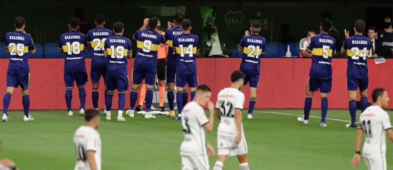 Dochter Diego Maradona houdt het niet droog na pakkend eerbetoon van Boca Juniors-spelers