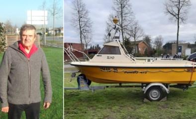 """Vissersboot van Hubert (71) gestolen uit voortuin: """"Mijn hobby is weg, ik ben er het hart van in"""""""