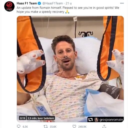 """Romain Grosjean twee dagen na horrorcrash: """"Dit was een wedergeboorte voor mij"""""""