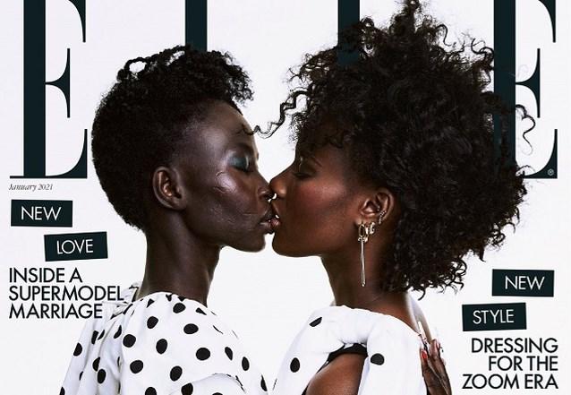 Topmodel kust echtgenote op cover van Elle als statement tegen homofobie