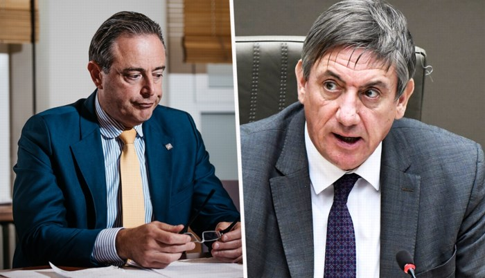 Met zijn aanval doet De Wever alsof er geen Vlaamse regering is. En Jambon, die moet puin ruimen