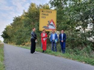Ecorasters langs N 76 in Meeuwen