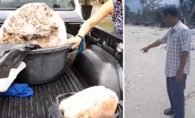 Visser hoeft nooit meer te werken na vondst van reusachtige brok walvisbraaksel