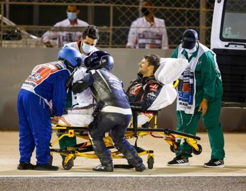 Romain Grosjean mag ziekenhuis al verlaten na zware crash en moest bijna huilen toen hij zijn hand zag