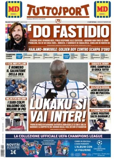 """Italiaanse loftrompet voor """"verwoestende"""" en """"schitterende"""" Romelu Lukaku na zijn twee goals tegen Mönchengladbach"""
