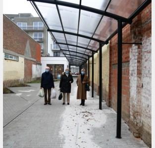 Nieuwe overdekte voetgangersdoorgang verbindt Markt met Mouterijdreef en Kaandelpark