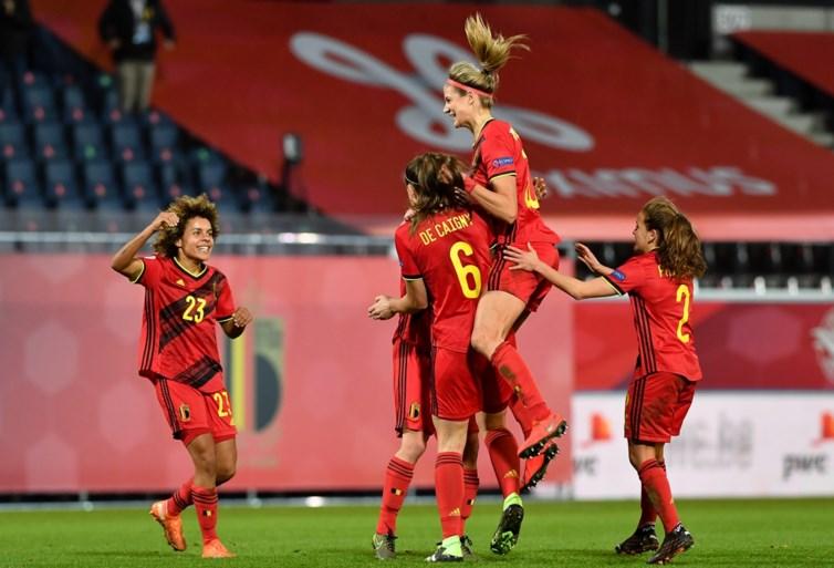 'England, here we come!' Red Flames kloppen Zwitserland met 4-0 en gaan naar EK 2022