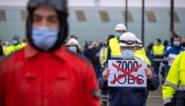 Honderden personeelsleden kerncentrale Doel houden protestactie tegen kernuitstap