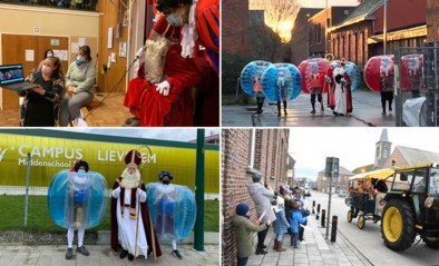 Hoor wie skypet daar, kinderen? Scholen laten zich van hun creatiefste kant zien voor sinterklaasfeest