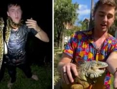 """Jongeman laat zich gewillig bijten door reptielen, met soms erg pijnlijke gevolgen: """"Zal hechtingen nodig hebben"""""""