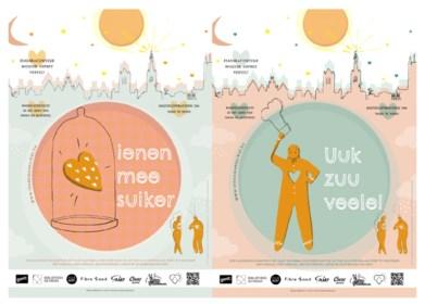 Met deze affiches kunnen Gentenaars elkaar gelukkig nieuwjaar wensen vanop afstand