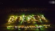 Zo zag het Limburgse boerenprotest er vanuit de lucht uit
