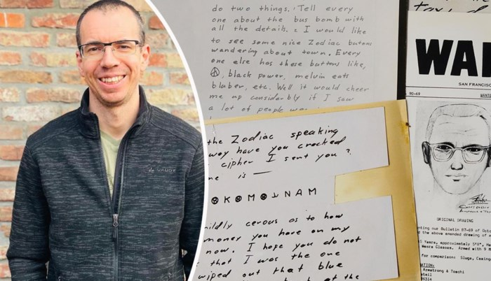 """De Vlaamse puzzelaar die de code van de Zodiac Killer kraakte: """"Fantastisch gevoel"""""""