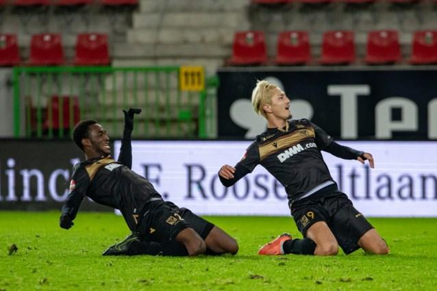 STVV wint tegen Zulte Waregem voor eerst dit seizoen buitenshuis en is niet langer alleen laatste