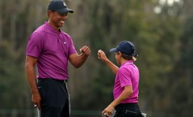 Vader en zoon Woods zorgen voor beelden voor de eeuwigheid, maar hebben nog veel werk om golftoernooi te winnen