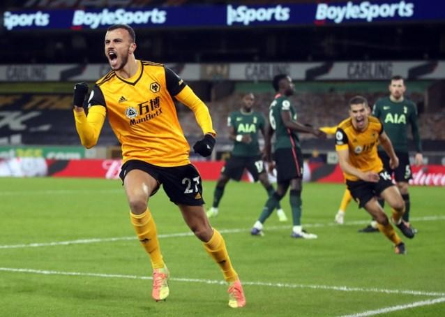 Tottenham scoort al in eerste minuut, maar geeft zege in slot nog uit handen tegen Wolverhampton