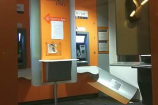 Plofkraak op ING-kantoor mislukt, daders vluchten weg zonder buit