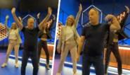 Julie Vermeire en Flo Windey shaken erop los in TikTok-filmpje, maar Ben Crabbé steelt de show