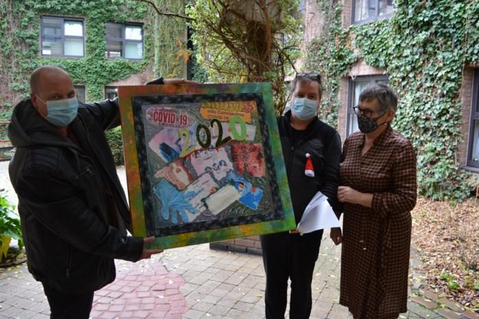 Kunstenaar schenkt 'Covid-19' aan Schelderust