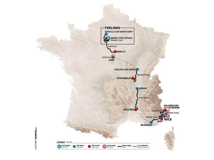 Parijs-Nice kiest als scherprechter opnieuw voor La Colmiane (waar Benoot vorig jaar gooi deed naar de eindzege)