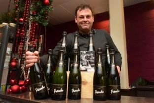 Wout van Aert viert met eigen champagne Panache geboorte van zoontje Georges